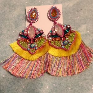 Jewelry - NEW Multicolor Tassel Earrings